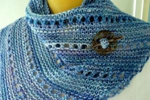 Blue Knit Kerchief