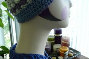 Crochet Cap and Scarflet