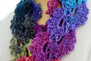 Queen Anne crochet lace scarf